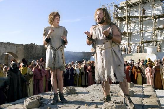 "Michael Cera and Jack Black do the Ethiopian Shim-Sham in Harold Ramis's ""Year One."""