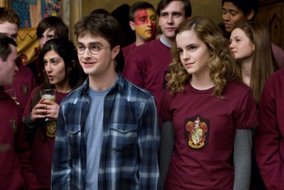"Daniel Radcliffe and Emma Watson in ""Harry Potter And The Half-Grunge Prince."""